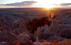 Sunset at Badlands National Park, SD