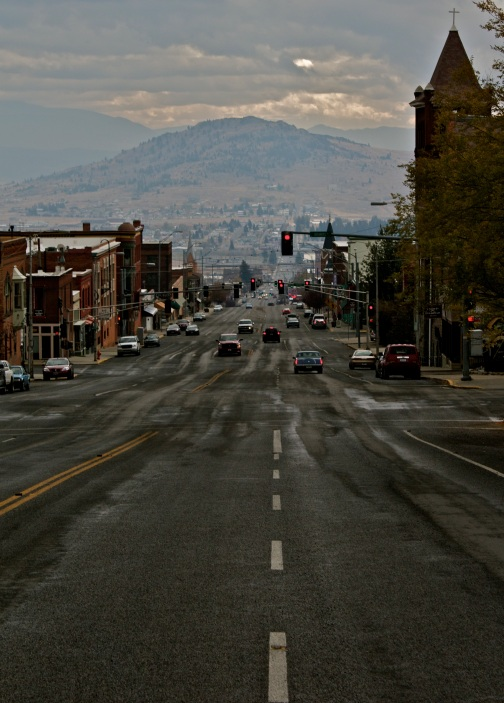 The main street of Butte, Montana.