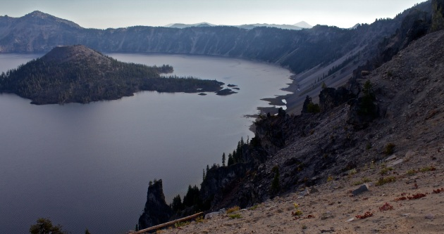 The Devil's Spine is a lava vein that cooled after the eruption of the enormous volcano in Oregon that later became Crater Lake.
