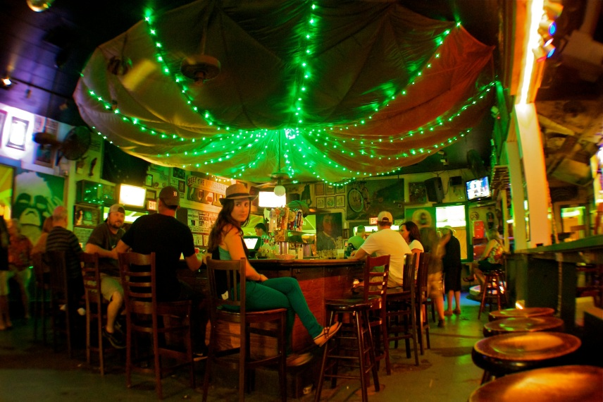 The oldest bar in Key West, the Green Parrot, has a lot of personality.