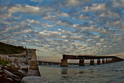 The old Bahia Honda bridge in the Florida Keys.