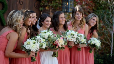 Kayla poses with her bridesmaids before marrying Ronnie (San Juan Capistrano)