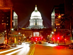 The capital of Wisconsin is the tallest and most prominent building in Madison.