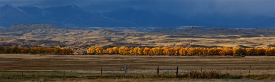 The changing season in Montana.
