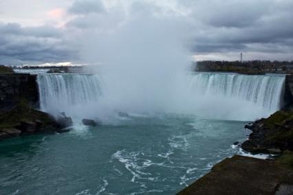 Niagra Falls from the Canadian border.