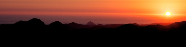 From San Luis Obispo to Morro Bay at sunset.
